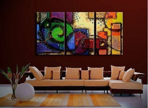 Hand Painted rendering High Q. Abstract Wall Decor Oil Painting on canvas 3 pcs/set mixorde Framed