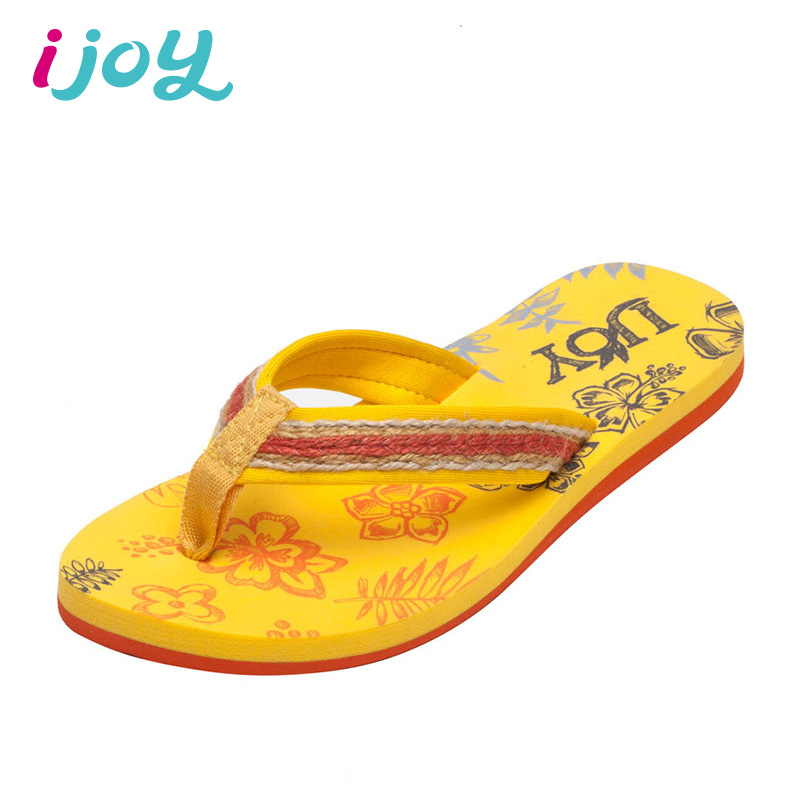IJOY Women Print Flower Sandals Ladies Brand Soft Comfort Thong Flat Heels Slippers Outdoor Casual Breathable Beach Flip Flops(China (Mainland))