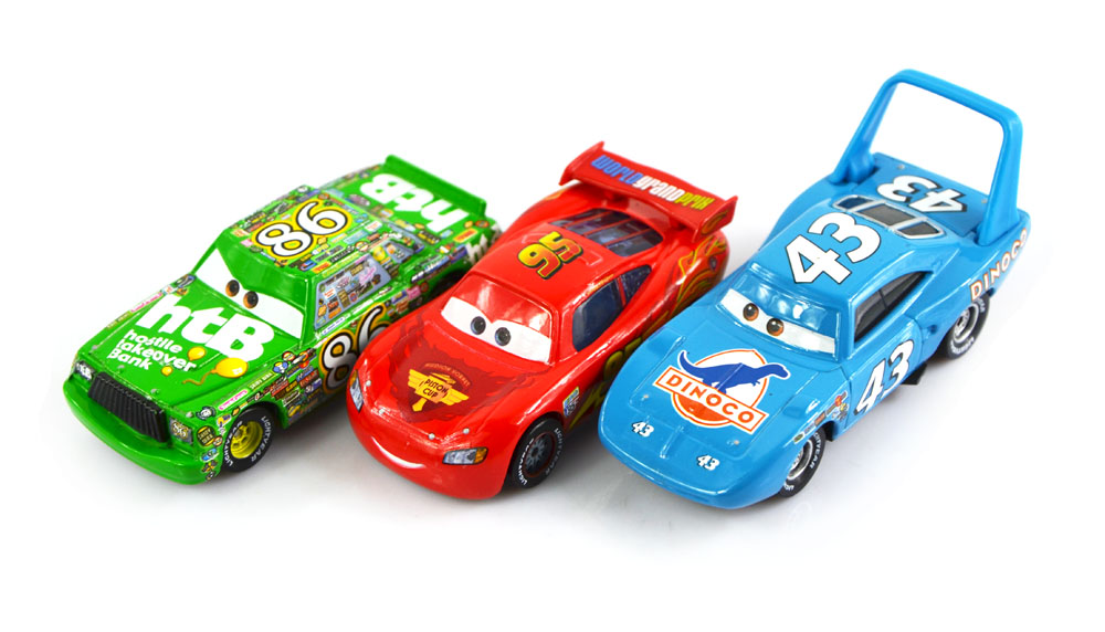 3Pcs/ Set 100% Original Cars Pixar 2 Diecast Models Vehicles Kids Toys Car Toys For Children- The King,Mcque, HTB(China (Mainland))