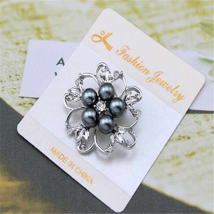 wholesale quality fashion pearl jewelry forwomen zircon brooch vintage brooch sapphire jewelry brooches for wedding hijab pins(China (Mainland))