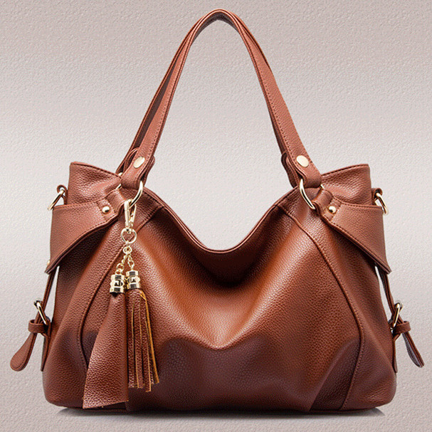 saffiano bag/2015 Fashion Design women leather handbags/Fringed bag/High quality women's messenger bag/famous Shoulder Bags 5081(China (Mainland))