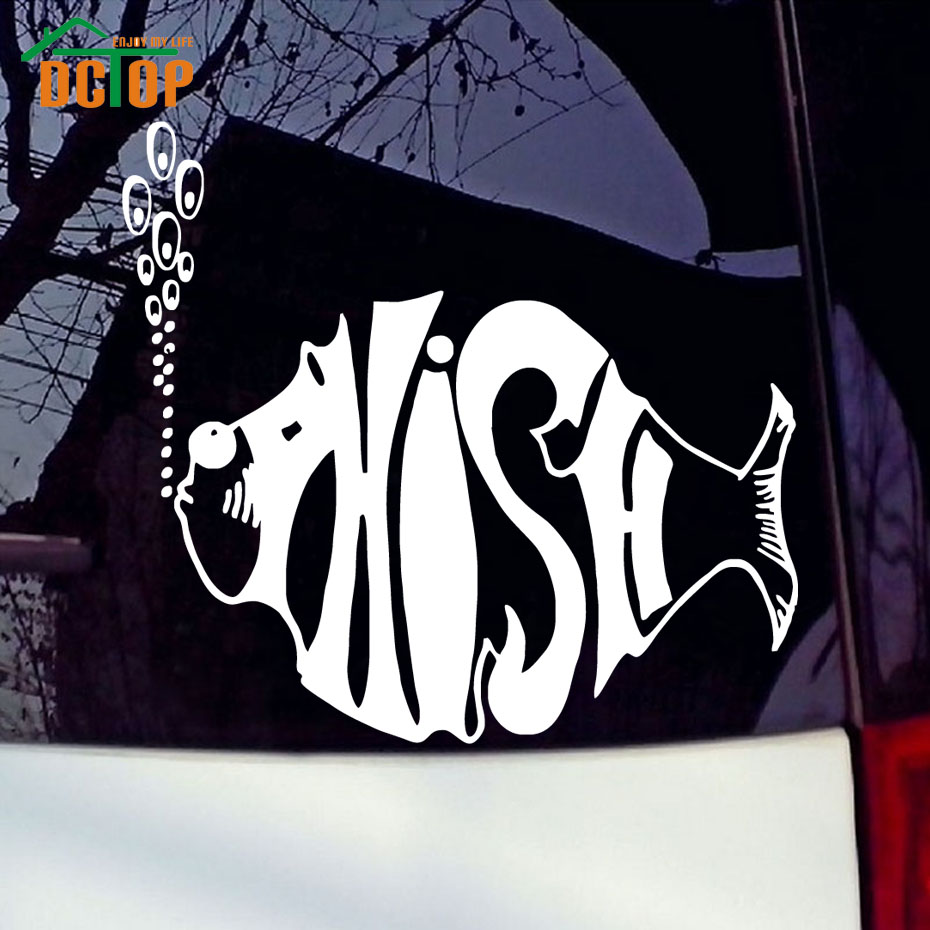 Lid styles Phish Fish Decal For Car Funny Sticker car styling Truck Decal Stickers