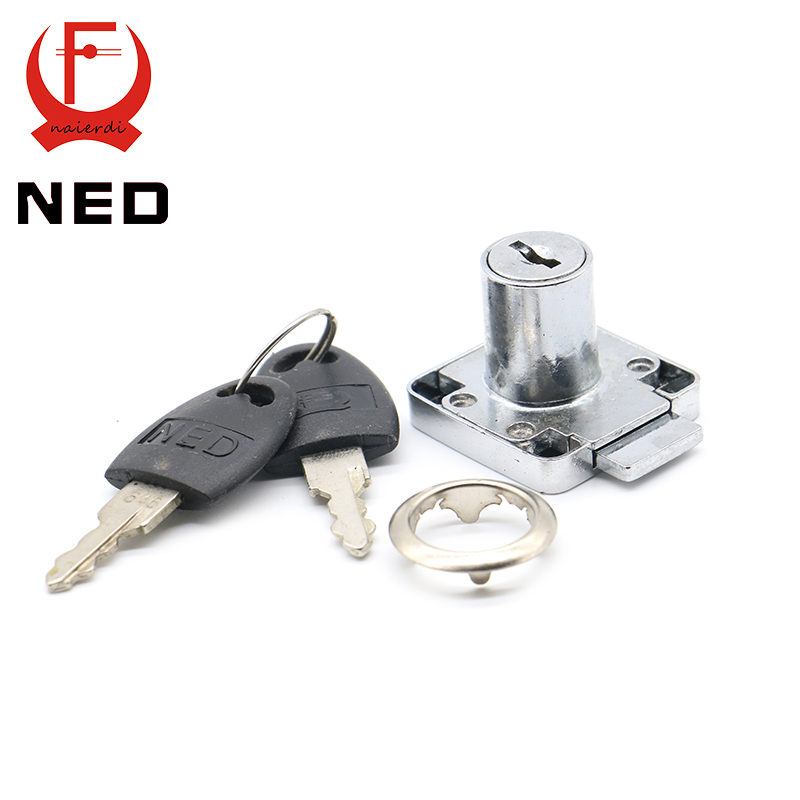 12PCS NED136-22 Furniture Drawer Locks Office 16mm Lock Core 22mm Length Cabinet Desk Lock Home Hardware With Iron/Plastic Keys(China (Mainland))