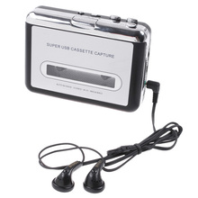 Tape to PC USB Cassette-to-MP3 Converter Capture Audio Music Player Free Shipping Wholesale(China (Mainland))