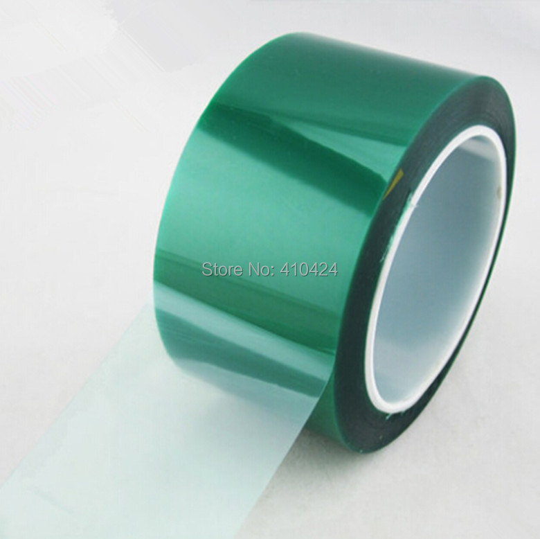 50mm * 33m Heat-resistant PET Green Masking Tape Shielding High-temperature Resistant Tape(China (Mainland))