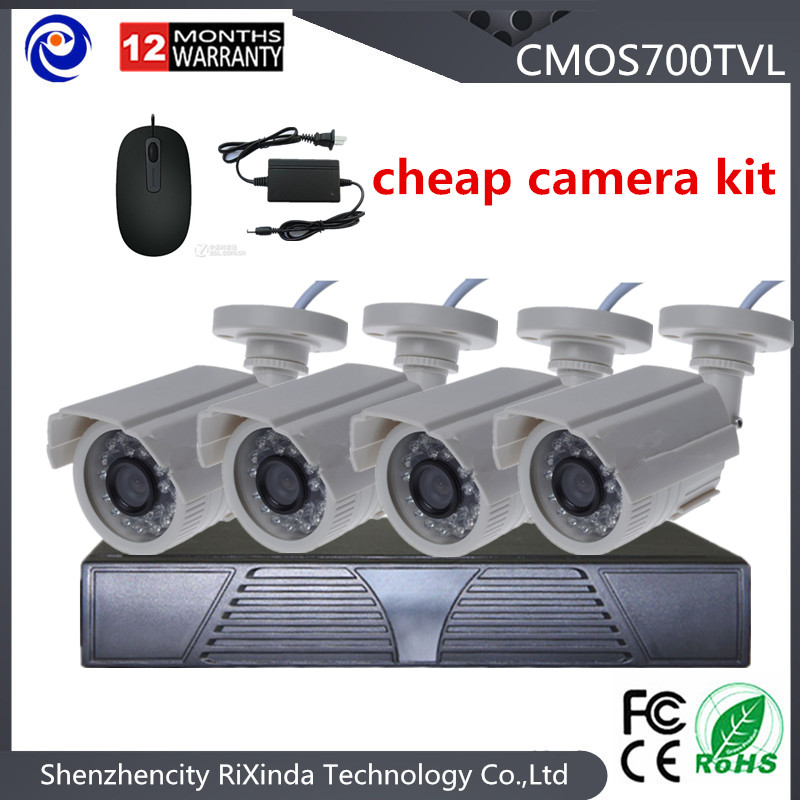 Free shipping 4CH hd ahd dvr CCTV System 700TVL HD 3.0 Megapixels lens cctv camera price list home Security Camera Kits<br><br>Aliexpress