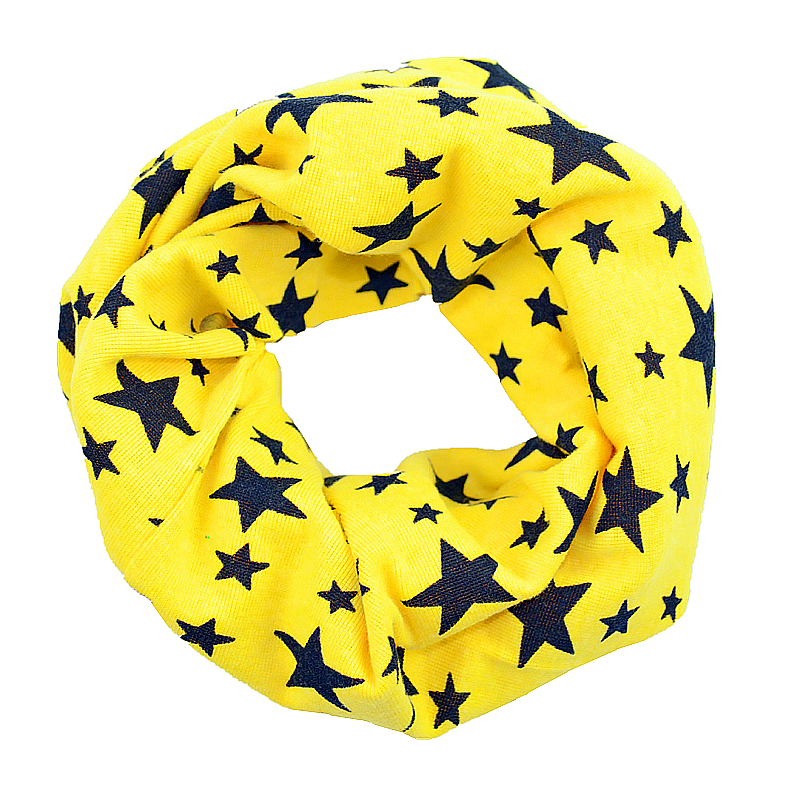 2016 Kids Winter Scarf Chirldren Boys Girls Fashion Star O Ring Knitted Scarves Baby Child Neck Warmer Gift Free Drop Shipping - HM store