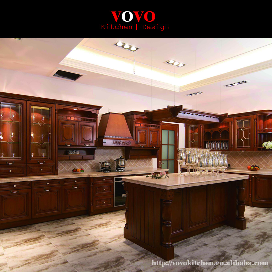 Online buy wholesale assembled kitchen cabinets from china for Pre assembled kitchen units