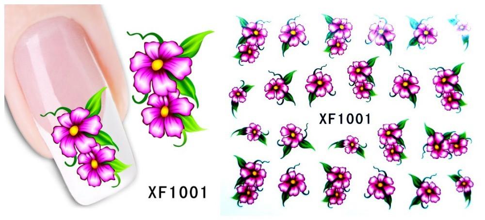 Fashion 1 piece 1Sheet 3D Design Tip Nail Art Nail Sticker Nail Decal carving white snow flower nail tools XF1001(China (Mainland))