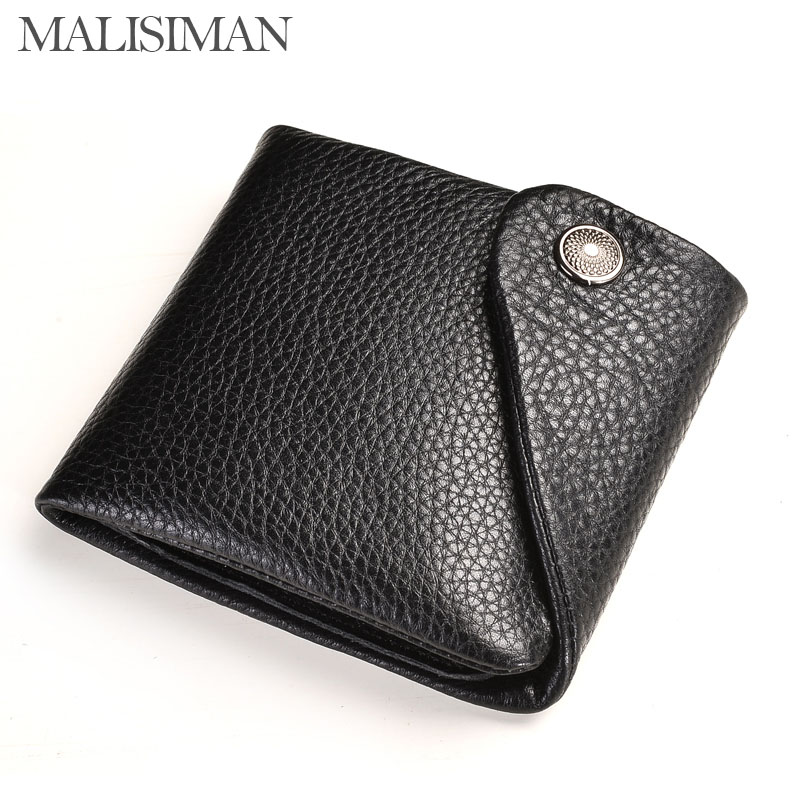 Malisiman Vintage business men wallet genuine leather real skin men clutch Milled leather male purse High Quality<br><br>Aliexpress