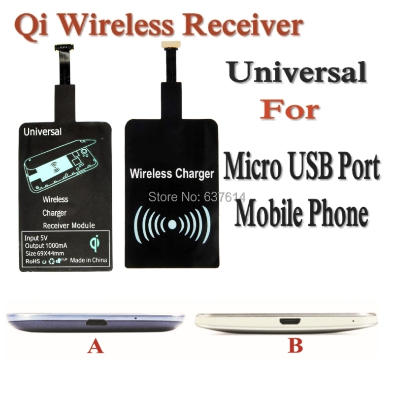 Universal Qi Wireless Charging Receiver Pad Coil Samsung Galaxy Note HTC Huawei Micro USB Phone Freeshipping - Online Store 637614 store