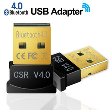 Mini USB Bluetooth Adapter V 4.0 Dual Mode Wireless Dongle Wholesale CSR 4.0 USB 2.0/3.0 For Win7 Vista XP 32/64 Win8 Black