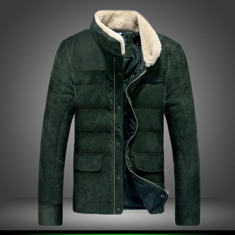 Скидки на 2016 мужская зимняя мода бренд утолщение хлопка мягкой одежды, чтобы согреться бизнес случайный тонкий чистый цвет пальто/размер S-5XL