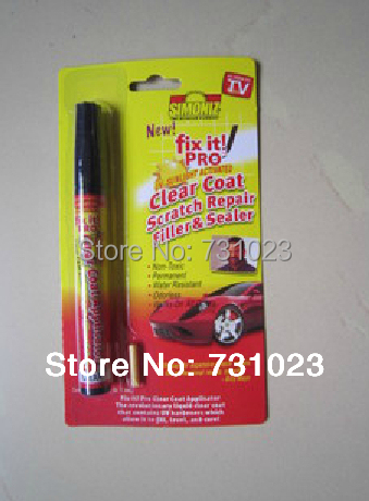 Free shipping Retail Packing 2pcs/lot Fix it PRO Painting Pen Car Scratch Repair for Simoniz Clear Pens As seen on TV(China (Mainland))
