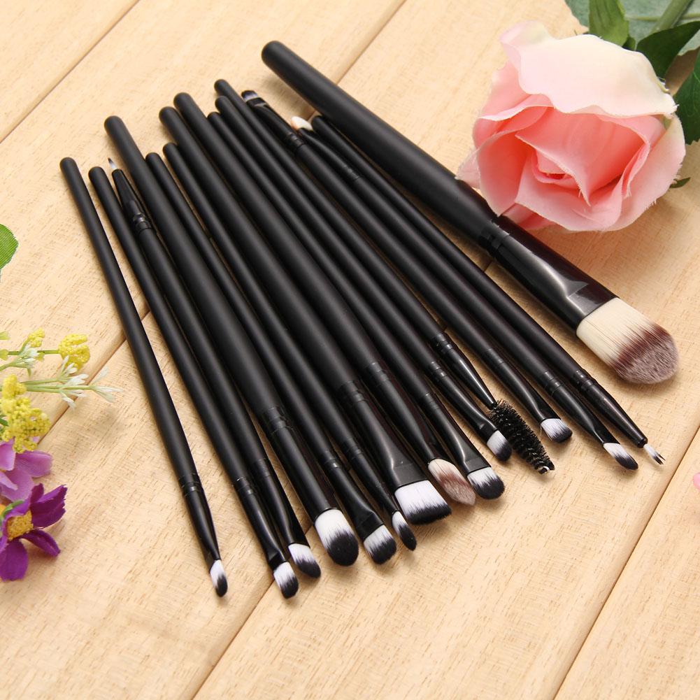 15 PCS Professional Makeup Brushes Set Eyeshadow Eyeliner Eyebrow Blush Foundation Brush Cosmetics Make Brushes Wood Handle