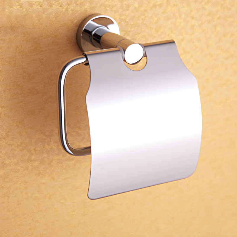 Paper Towel Box 304 Stainless Steel and Copper Roll Holder for Bathroom , Chrome Wall Mounted Toilet Paper Holders(China (Mainland))