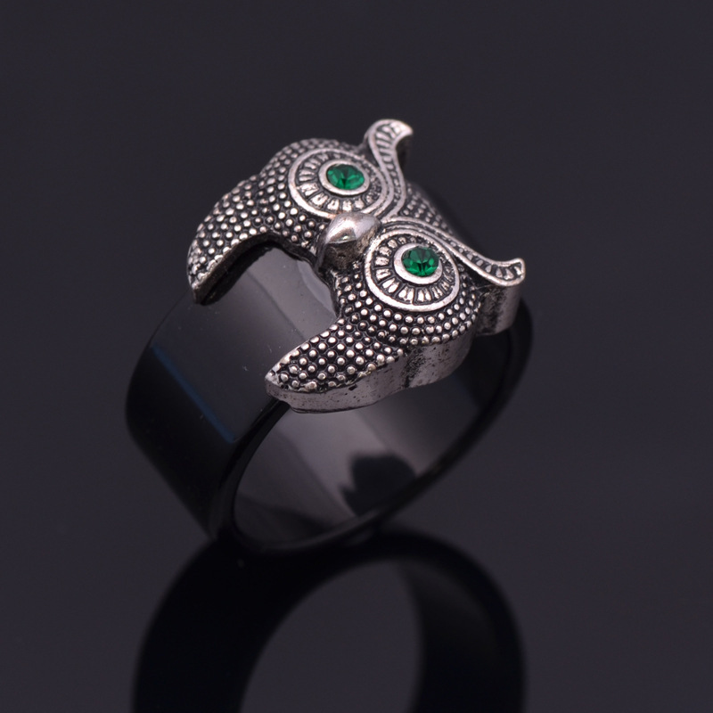 The owl Fashion jewelry alloy metal ring Antique Gold,Antique Silver plated Rings for women New Sale free shipping R167(China (Mainland))