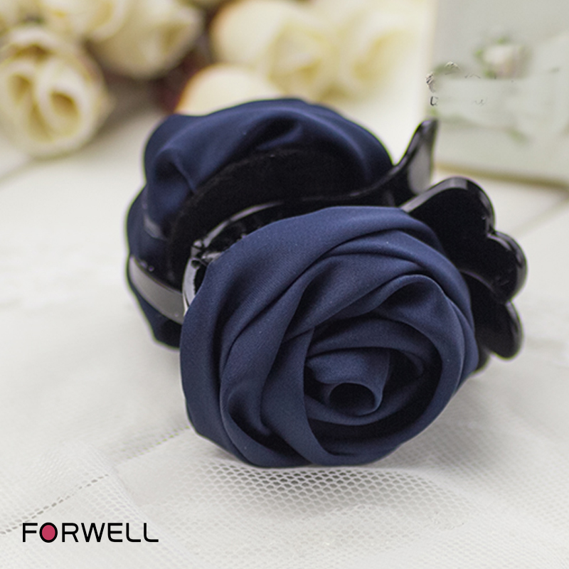 DIY handmade women girls hair accessories for girls women cloth roses flowers shape gripper clips barrettes headwear(China (Mainland))