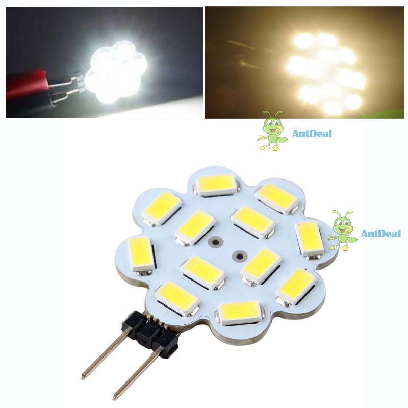 antdeal Quickly! G4 12 SMD 5730 LED Light Car Boat Soptlight Warm Pure White Bulb Lamp DC12V 6W [Warm white (3000-3500K)] [best](China (Mainland))