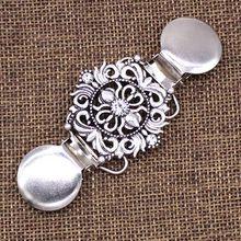 Vintage Maglione Scialle Clip di Abiti Cardigan Clip Collare Modelli di Fiore Della Clip per Le Donne Ragazze(China)