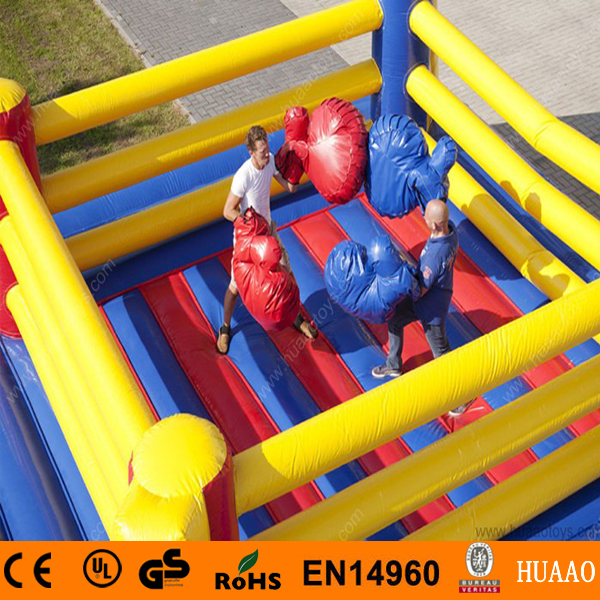 Free Shipping Commercial Inflatable Games Inflatable Boxing Ring for Adults(China (Mainland))