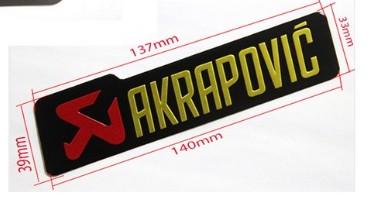 auto Akrapovic Exhaust Muffler Decal Waterproof Car 3M yoshimura Sticker Motorcycle Decals Moto Gp KTM CRF YZF KLX KXF RMZ CBR