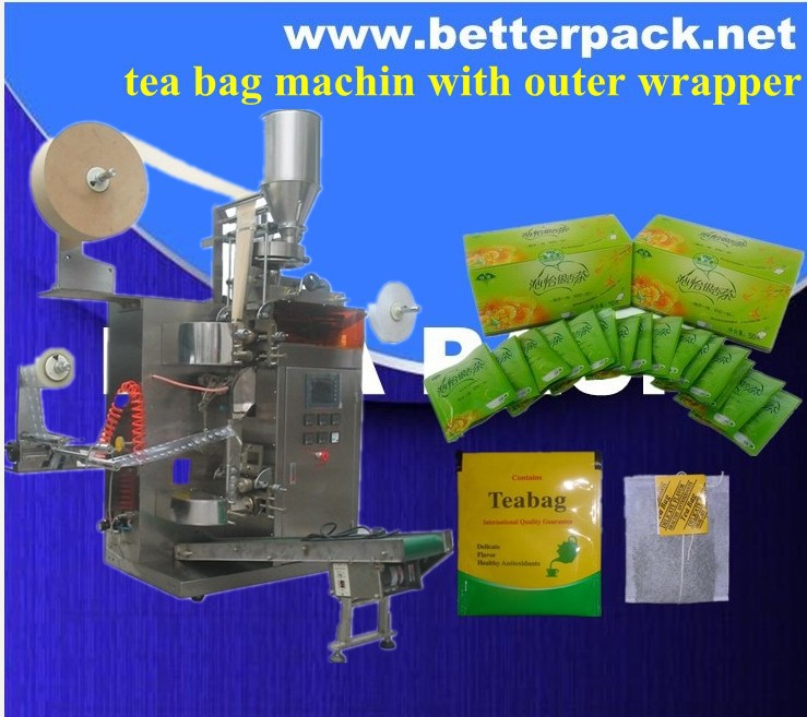 tea bag packing equipment with outer envelope tea pack machines(China (Mainland))