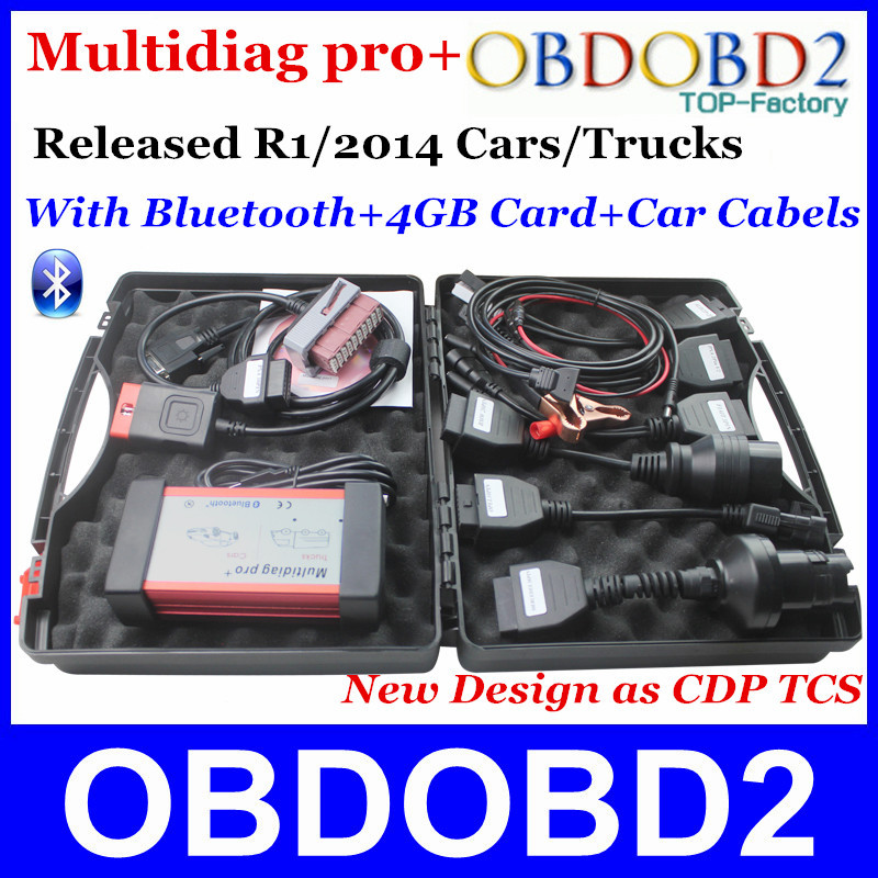New Design R1/2015 Released Multidiag Pro+ Works Cars/Trucks/Generic Full Package(Bluetooth+4GB TG Card+8pcs Car Cables) AS CDP(China (Mainland))