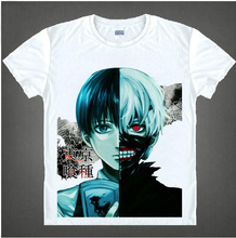 Tokyo Ghoul  anime Printed Men's T-Shirt T Shirt For Men women 2016 New Short Sleeve