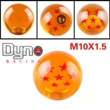 Dyno Racing Universal  RARE Gear SHIFT KNOB  DRAGONBALL Z DRAGON BALL 54mm Diameter  7 STARS amber dragon  10X1.5(China (Mainland))