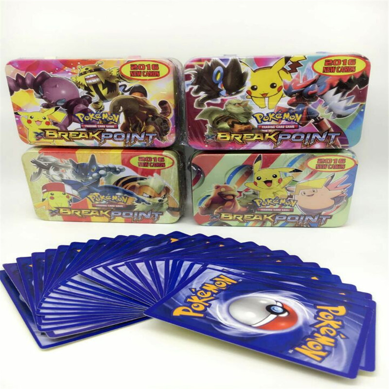 Hot! 42Pcs/lot Pocket Cards Monster Card Pokemon Tin Box Paper Card Random Send 1 Box High Quality Collect Children's Gift TY199(China (Mainland))