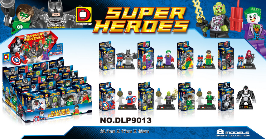 DLP9013 Super Heroes Gorilla Grodd/Batman/Robin 8Pcs/lot Minifigures Building Block Minifigure Toys Compatible With Lego<br><br>Aliexpress