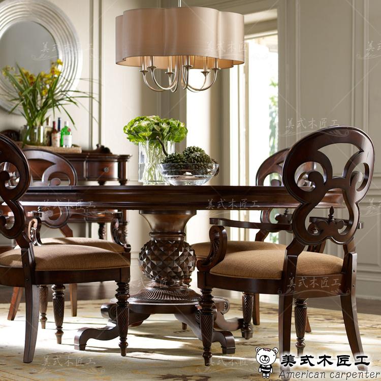 Pa s da am rica europeu mesa redonda de madeira mesa for Mesas de comedor redondas de madera