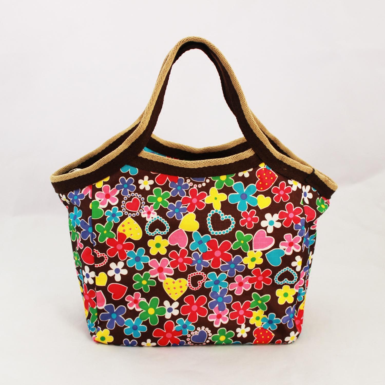 2016 Women Canvas Totes tote bag handbags flower casual handbag cheap nice bags(China (Mainland))