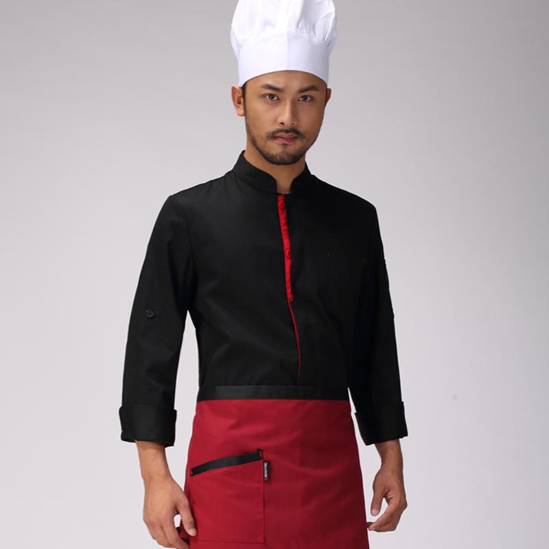 Uniforme del cocinero de Manga Larga de Los Nuevos Hombres y Mujeres de Otoño/invierno En la Cocina Restaurante Hotel Hotel Chef de Repostería Smock Capa Uniforme(China (Mainland))