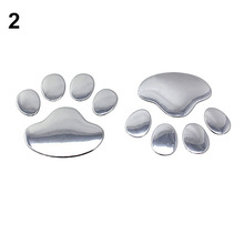 3D Car Silver/Golden ST Window Bumper Body Decal Sticker Bear Cat Dog Paw Foot Prints 8P9S(China (Mainland))