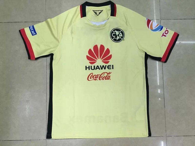Club America 2015 2016 home YELLOW 1516 Raul Sambueza M.LAYUN MICKY ss best quality player version soccer football jersey shirt(China (Mainland))