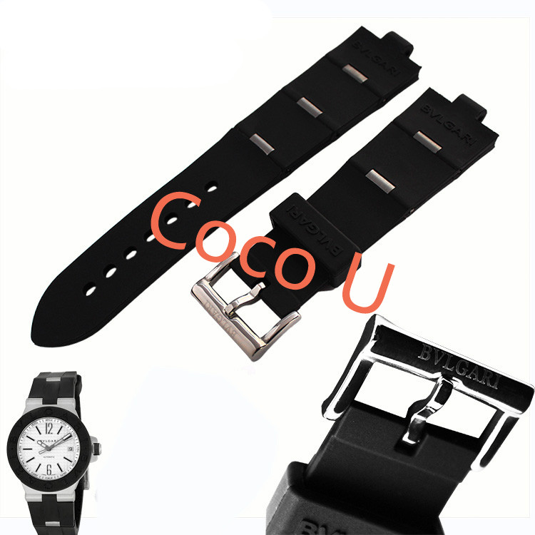 22mm x 8mm(Watch lug) NEW Mens Diving Silicone Rubber Watch BAND Strap <br><br>Aliexpress