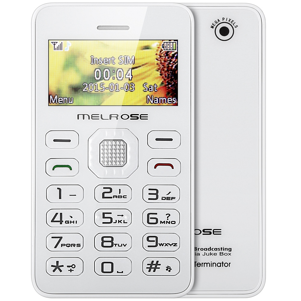 MELROSE G1 1.7 inch Card Phone Mini Music Pocket Cell Phone Back Camera FM MP3 Playback Bluetooth Alarm Calendar Calculator(China (Mainland))