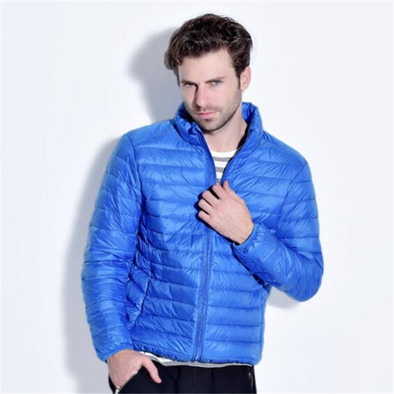 Light Down Ultra Men Feather Jacket Men's Thin And Light Down Collar Short Paragraph Coat Ultra Light Down Jacket Men(China (Mainland))