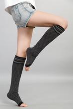 2015  Women cotton Stockings women sport Stockings meia antiderrapante para pilates summer style Thigh High Stockings