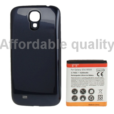 brand new 6200mah replacement mobile phone battery cover back door for samsung galaxy s4 i9500. Black Bedroom Furniture Sets. Home Design Ideas