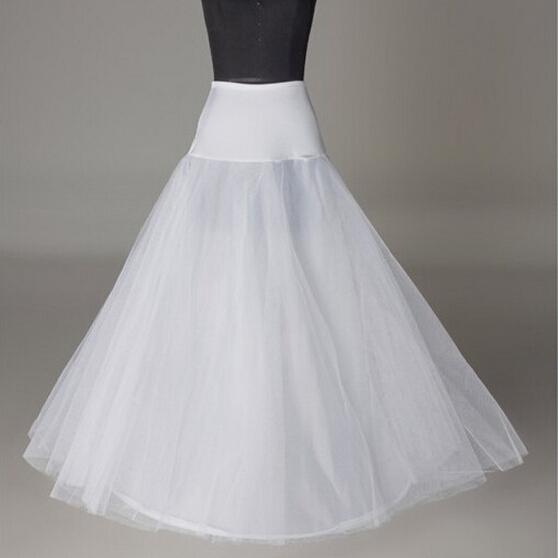 Free Shipping Bride Petticoat 2015 New White 1 Hoop A Line Wedding Dress Underskirt Formal Dress