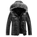 2016 men s new men s thick hooded down jacket short paragraph fox fur collar sheep