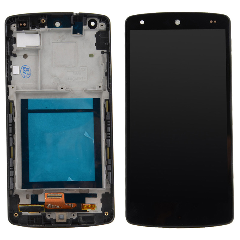 1pcs New Original For LG Google Nexus 5 D820 D821 LCD Display Digitizer Touch Screen With Frame Assembly VA414 T20 0.2 d va dv003ewhhy45