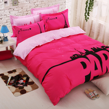 cartoon designs100% cotton fabric with reactive printing bed sheet ,bed cover and pillow case bedding set(China (Mainland))