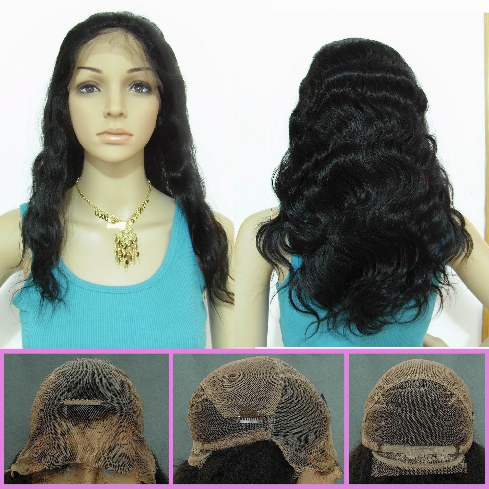 7A Body Wave Full Lace Wig Virgin Brazilian Human Hair Body Wave Glueless Full Lace Wig For Black Women With Baby Hair<br><br>Aliexpress