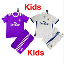 2017 kids top thai quality reals survetement football soccer jerseys 2016 James isco Modric shirt(China (Mainland))