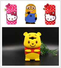 Для Samsung J2 футляр силикона 3D мультфильм привет китти симпатичные гадкий я прекрасный желтый медведь мягкая кожа чехол бесплатная доставка