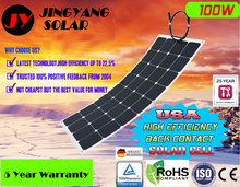 flexible solar panel 100w semi flexible panel with 30 degree foldable A grade solar cell(China (Mainland))